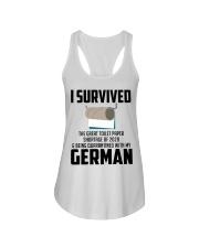 Being Quarantined With My German Ladies Flowy Tank tile