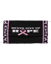 Never Give Up Hope Cloth face mask thumbnail