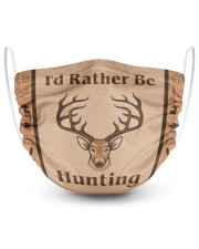 I'd Rather Be Hunting 2 Layer Face Mask - Single front
