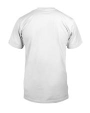 Never Underestimate Old Lady Flamingo July Classic T-Shirt back