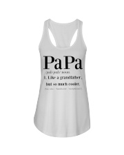 Papa like a grandfather but so much cooler Ladies Flowy Tank thumbnail