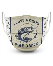 Fishing I Love A Good Pole Dance  3 Layer Face Mask - Single front