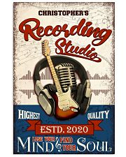 Recording studio Where words fail Personalized 16x24 Poster front