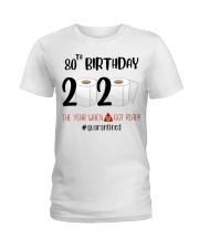 80th Birthday 80 Years Old Ladies T-Shirt thumbnail