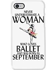 Never Underestimate Woman Ballet September Phone Case thumbnail