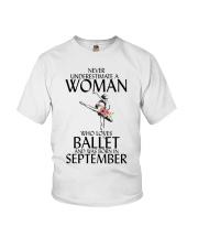 Never Underestimate Woman Ballet September Youth T-Shirt thumbnail