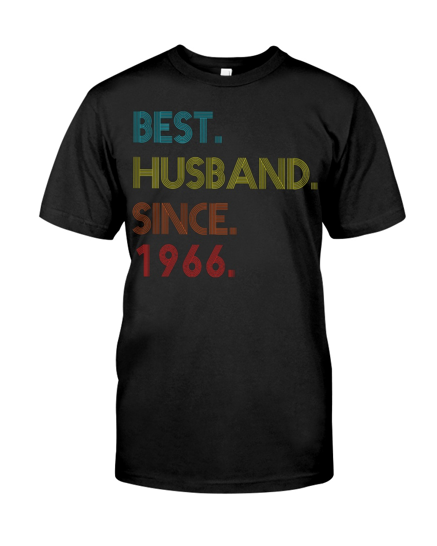 54th Wedding Anniversary Best Husband Since 1966 Classic T-Shirt