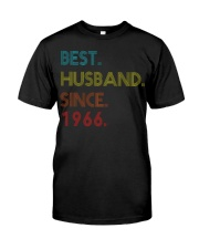 54th Wedding Anniversary Best Husband Since 1966 Classic T-Shirt front