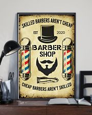 Barbershop Skilled Barbers Aren't Cheap  11x17 Poster lifestyle-poster-2
