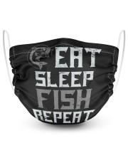 Eat sleep fish repeat fishing Masks tile