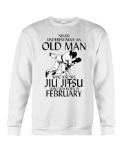 Never Underestimate Old Man Jiu Jitsu February Crewneck Sweatshirt thumbnail