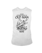 An Old Man Loves Skiing May Sleeveless Tee thumbnail