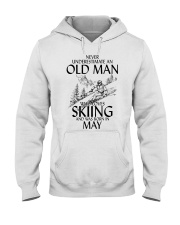 An Old Man Loves Skiing May Hooded Sweatshirt tile