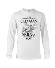 An Old Man Loves Skiing May Long Sleeve Tee thumbnail