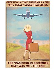 Girl Loves Travelling Born In December 24x36 Poster front