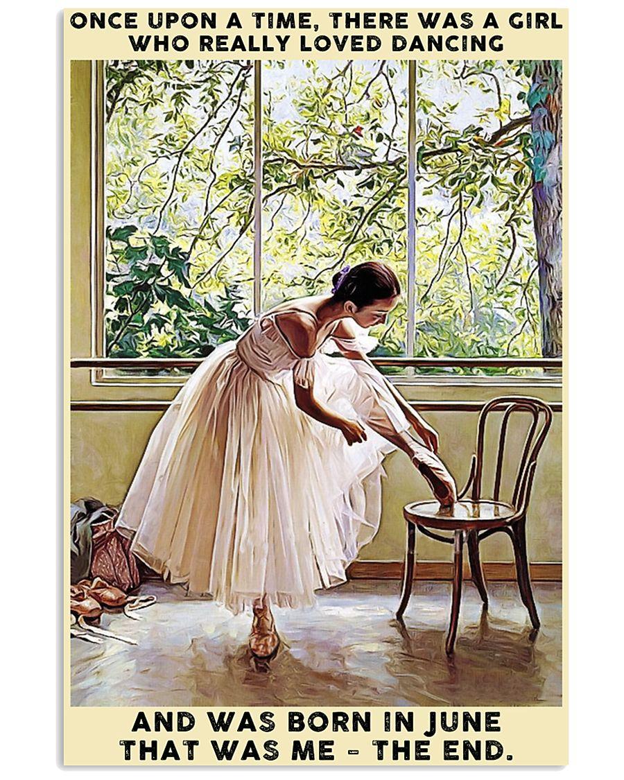 Girl Loved Ballet Born In June 24x36 Poster