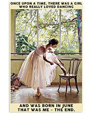 Girl Loved Ballet Born In June 24x36 Poster front