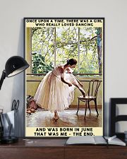Girl Loved Ballet Born In June 24x36 Poster lifestyle-poster-2