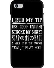 Billiards I Rub My Tip Phone Case thumbnail