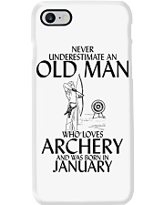 Never Underestimate Old Man Archery January Phone Case thumbnail