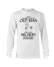 Never Underestimate Old Man Archery January Long Sleeve Tee thumbnail