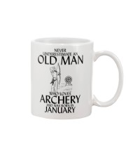 Never Underestimate Old Man Archery January Mug thumbnail