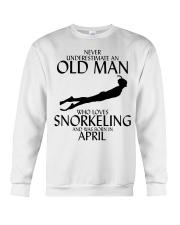 Never Underestimate Old Man Snorkeling April Crewneck Sweatshirt thumbnail
