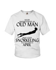 Never Underestimate Old Man Snorkeling April Youth T-Shirt thumbnail