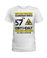 57th Birthday 57 Years Old Ladies T-Shirt thumbnail