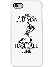 Never Underestimate Old Man Baseball June Phone Case thumbnail