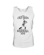 Never Underestimate Old Man Baseball June Unisex Tank thumbnail