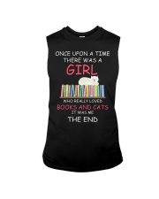 Reading Once Upon A Time A Girl Books Cats Sleeveless Tee thumbnail