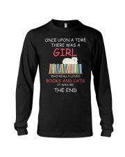 Reading Once Upon A Time A Girl Books Cats Long Sleeve Tee thumbnail