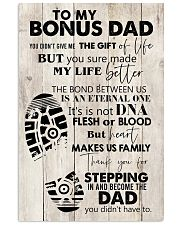 To My Bonus Dad 24x36 Poster front