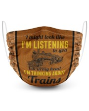 In my head I'm thinking about trains 2 Layer Face Mask - Single front
