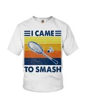 Badminton I Came To Smash Youth T-Shirt thumbnail