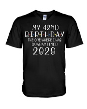My 42nd Birthday The One Where I Was 42  years old V-Neck T-Shirt thumbnail