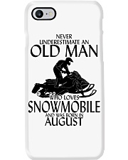 Never Underestimate Old Man Snowmobile August Phone Case thumbnail