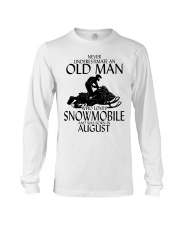 Never Underestimate Old Man Snowmobile August Long Sleeve Tee thumbnail