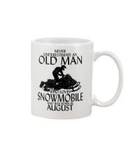 Never Underestimate Old Man Snowmobile August Mug thumbnail
