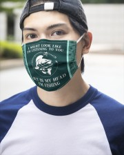I Might Look Like I'm Listening To You-Fishing 3 Layer Face Mask - Single aos-face-mask-3-layers-lifestyle-front-14