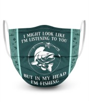 I Might Look Like I'm Listening To You-Fishing 3 Layer Face Mask - Single front