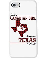 Just A Canadian Girl In Texas World Phone Case thumbnail