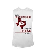 Just A Canadian Girl In Texas World Sleeveless Tee thumbnail