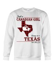 Just A Canadian Girl In Texas World Crewneck Sweatshirt thumbnail