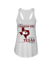 Just A Canadian Girl In Texas World Ladies Flowy Tank thumbnail