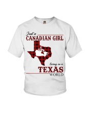 Just A Canadian Girl In Texas World Youth T-Shirt thumbnail