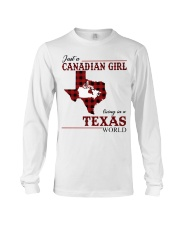 Just A Canadian Girl In Texas World Long Sleeve Tee thumbnail