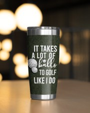 Golf Personalized-It takes a lot of balls Chrismas 20oz Tumbler aos-20oz-tumbler-lifestyle-front-04