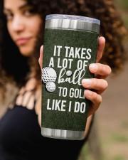 Golf Personalized-It takes a lot of balls Chrismas 20oz Tumbler aos-20oz-tumbler-lifestyle-front-93